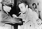 Censorship Photo Framed Prints - Lenny Bruce 1925-1966, Being Searched Framed Print by Everett
