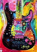 Guitarist Mixed Media - Lenny Strat by Dean Russo