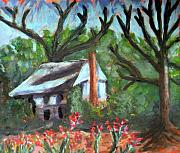 North Carolina Paintings - Lenoir County Old House by Rebecca Worters