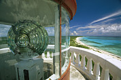 Nautical Structures Photos - Lens In The Lighthouse Tower At South by Michael Melford