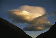 Owens River Posters - Lenticular Clouds Hover Above A Power Poster by Gordon Wiltsie
