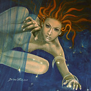Live Art Posters - Leo from Zodiac series Poster by Dorina  Costras
