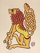 Celtic Knotwork Prints - Leo Print by Ian Herriott
