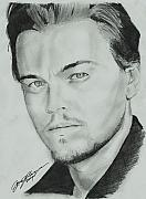 Celebrity Portraits Drawings Posters - Leo Poster by Jason Kasper
