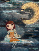 Luna Mixed Media Prints - Leo Print by Laura Bell