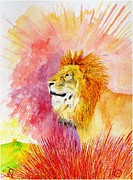 Astrology Sign Paintings - Leo by Tamara Tavernier