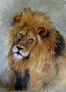 Circus. Paintings - Leo the Lion by Joan Edge