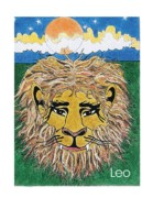 Signed Mixed Media Originals - Leo the Lion by Stephen Daniel