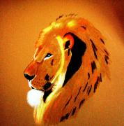 Lion Pastels - Leo2 by Lorna Lorraine