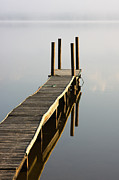 Pole Prints - Leon Lake Jetty Print by Billy Currie Photography