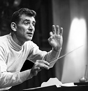 1960s Candids Framed Prints - Leonard Bernstein, 1960 Framed Print by Everett