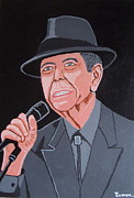 Outsider Art Paintings - Leonard Cohen by Eamon Reilly