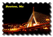 Leonard Photos - Leonard P Zakim Bunker Hill Bridge by Frank Garciarubio