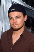 Beards Photo Prints - Leonardo Dicaprio Arrives Print by Everett