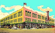 Fort Worth Painting Prints - Leonards Department Store In Fort Worth Tx In 1944 Print by Dwight Goss