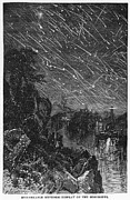 1833 Framed Prints - Leonid Meteor Shower, 1833 Framed Print by Granger