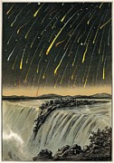 1833 Photo Framed Prints - Leonid Meteor Shower Of 1833, Artwork Framed Print by Detlev Van Ravenswaay