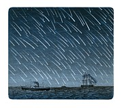 Shooting Stars Framed Prints - Leonid Meteor Shower Of 1866 Framed Print by Detlev Van Ravenswaay