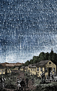 Meteor Prints - Leonid Meteor Shower Print by Science Source