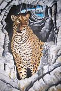 Marilyn  Comparetto - Leopard on the Rocks