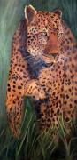 Leopards Paintings - Leopold by Jan Holman