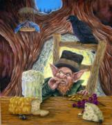 St. Patrick Paintings - Leprechauns Lair by Heather Calderon