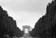 Champs Elysees Framed Prints - Les Champs Elysees Framed Print by Hans Mauli