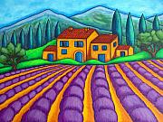 Lisa Lorenz Painting Metal Prints - Les Couleurs de Provence Metal Print by Lisa  Lorenz