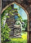 Les Escaliers En Bandouille In Sevres France  Print by Carol Wisniewski