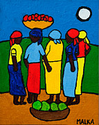 Haitian Paintings - Les Femmes I by Marlene MALKA Harris