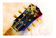 Guitar Painting Framed Prints - Les is More Framed Print by Andrew King