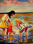 Enfants Painting Posters - Les Mares Poster by Rusty Woodward Gladdish