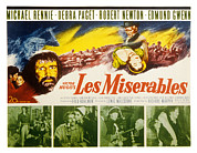 1950s Poster Art Photo Framed Prints - Les Miserables, Michael Rennie, Debra Framed Print by Everett
