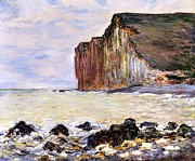 Shore Painting Metal Prints - Les Petites Dalles Metal Print by Claude Monet
