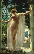 Negligee Metal Prints - Lesbia Metal Print by John Reinhard Weguelin
