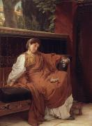 Alma-tadema; Sir Lawrence (1836-1912) Acrylic Prints - Lesbia Weeping over a Sparrow Acrylic Print by Sir Lawrence Alma-Tadema