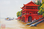 Depicting Paintings - Leshan China by Albert Ferrand