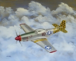 Usaaf Paintings - Lesina Italy Checkertail Clan 1945 by Daniel Kansky