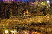 Barn Digital Art Metal Prints - Less Than Perfect Metal Print by Sari Sauls
