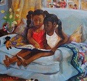 African-american Paintings - Lessons by Charon Rothmiller