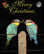 Pair Sculpture Posters - Lesvos Christmas Birds Poster by Eric Kempson