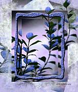 Blue Leaves Framed Prints - Let Free the Pain Framed Print by Vicki Ferrari