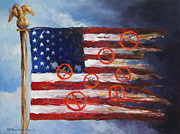 American Eagle Paintings - Let Freedom Reign? by Deborah Smith