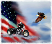 American Flag Prints - Let Freedom Ride Print by Colleen Taylor