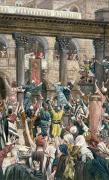 Angry Crowd Prints - Let Him be Crucified Print by Tissot