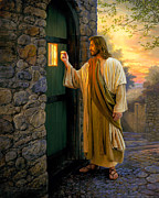 Jesus Framed Prints - Let Him In Framed Print by Greg Olsen