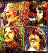 George Harrison Ringo Starr Art - Let it Be by Russell Pierce