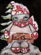 Snow Man Posters - Let it Snow 2 Poster by  Abril Andrade Griffith