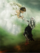 Heaven Digital Art Metal Prints - Let Me Go Metal Print by Karen Koski