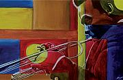 Jazz Paintings - Let me play by Stacy V McClain